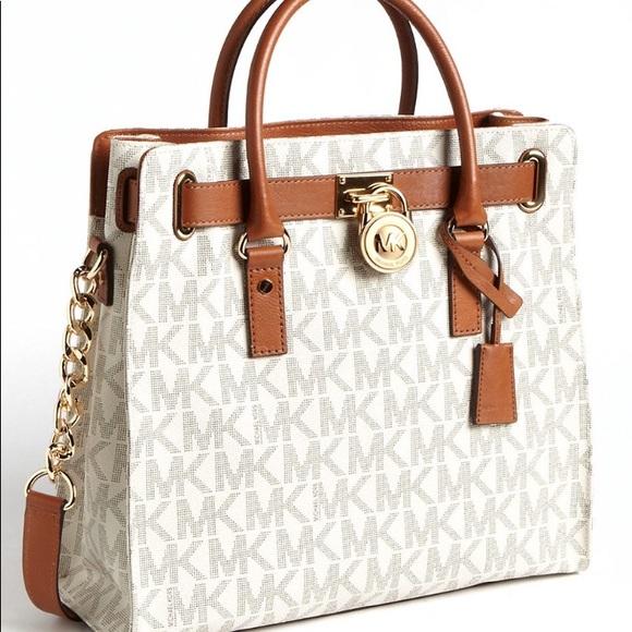 629131a5f3115f Michael Kors Bags | Beautiful White Hamilton Bag | Poshmark